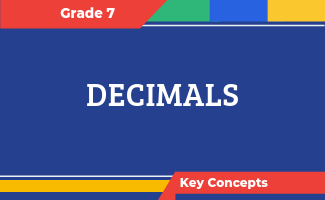 Grade 7 Key Concepts: Decimals