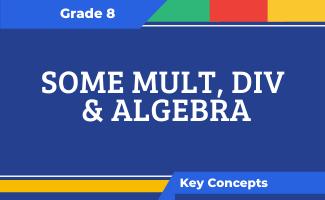 Grade 8 Key Concepts: Some Mult, Div & Algebra