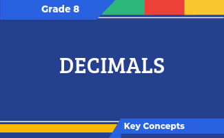 Grade 8 Key Concepts: Decimals